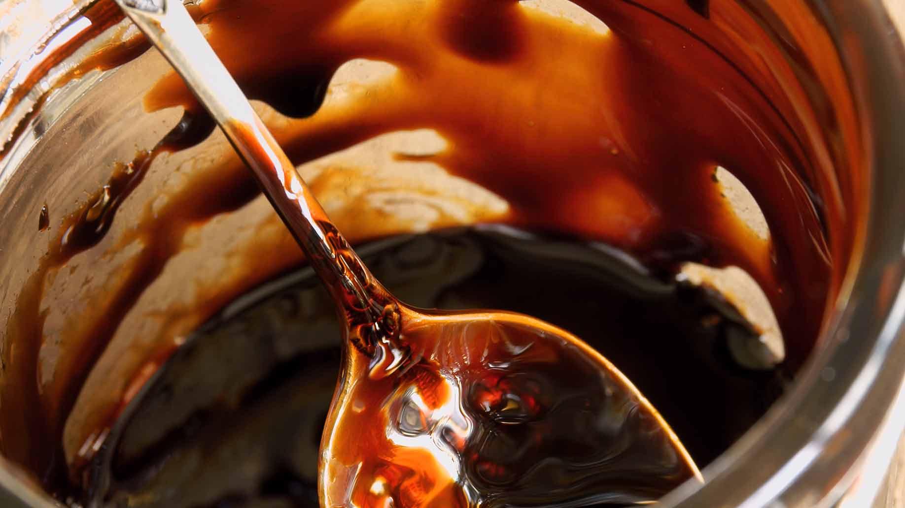 blackstrap molasses thick sweet syrup jar