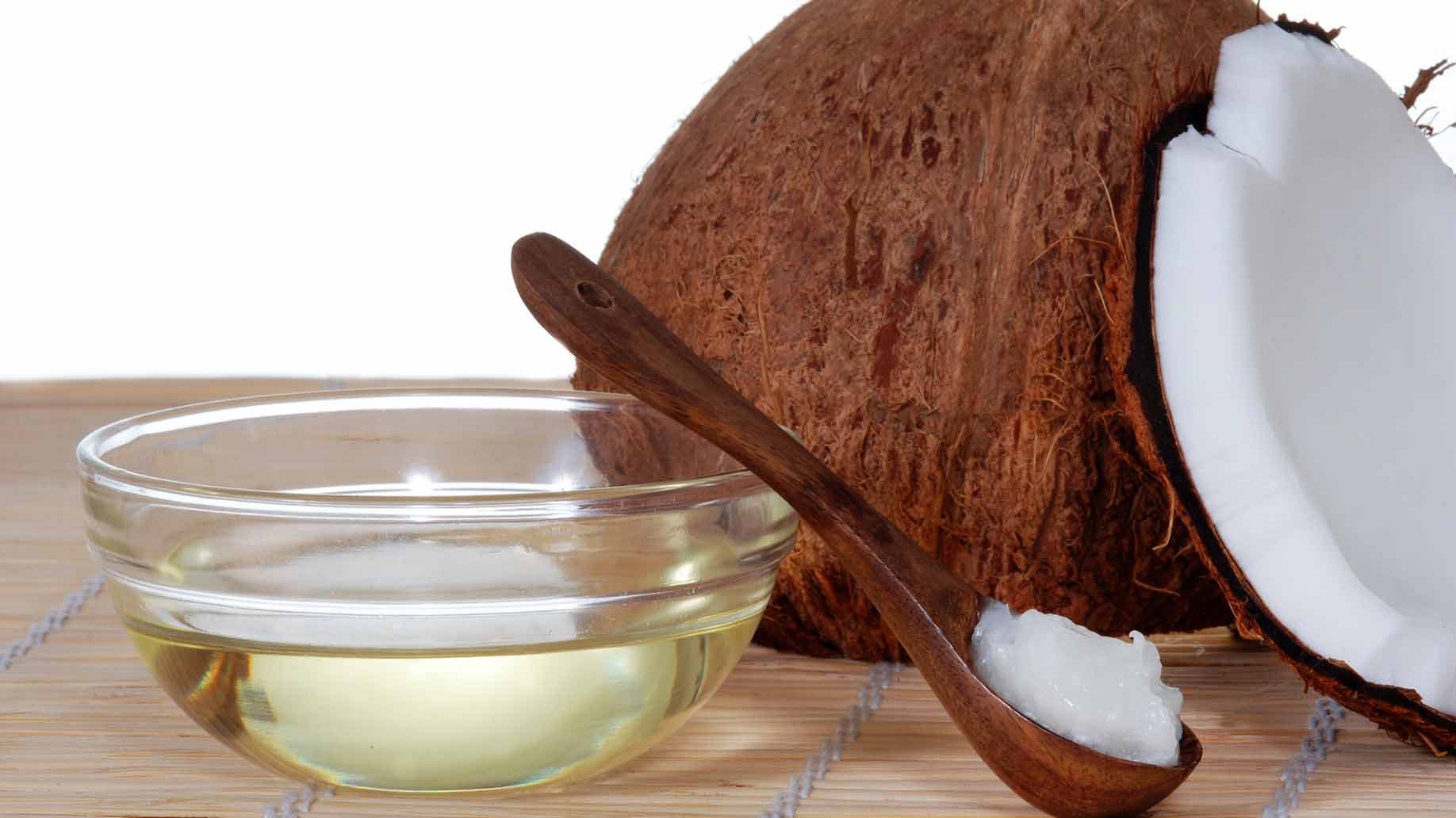 coconut oil solid white meat