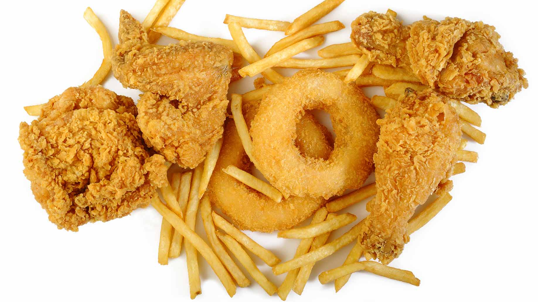 fried unhealthy oily processed food