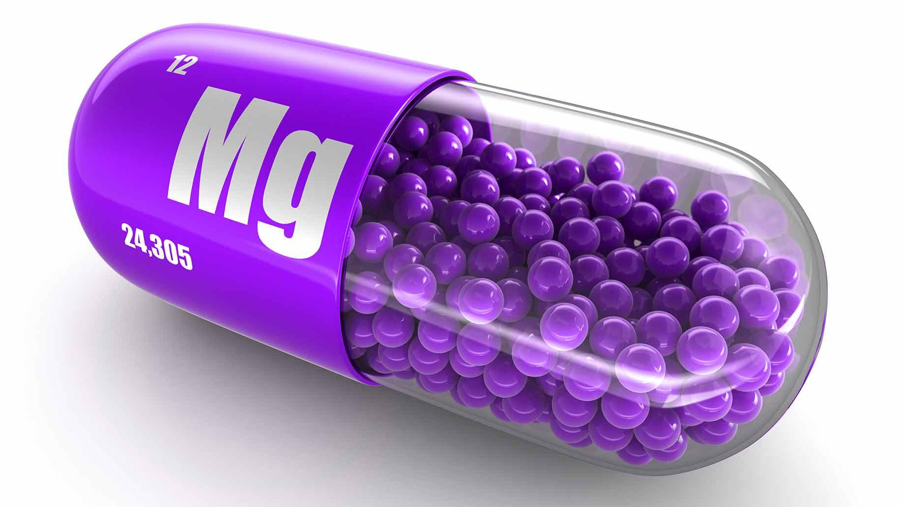 magnesium supplement capsules purple pill