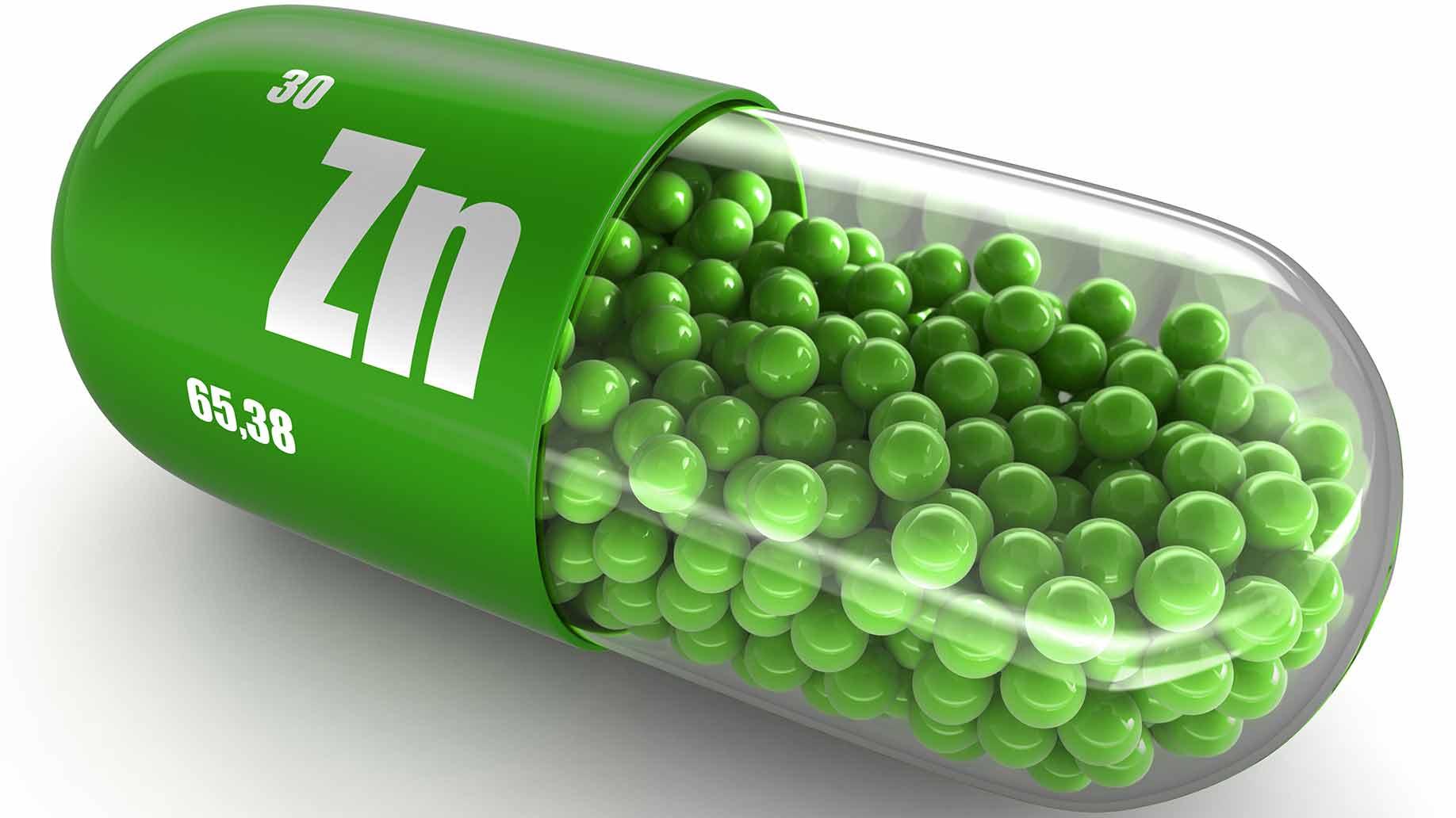zinc zn green capsules