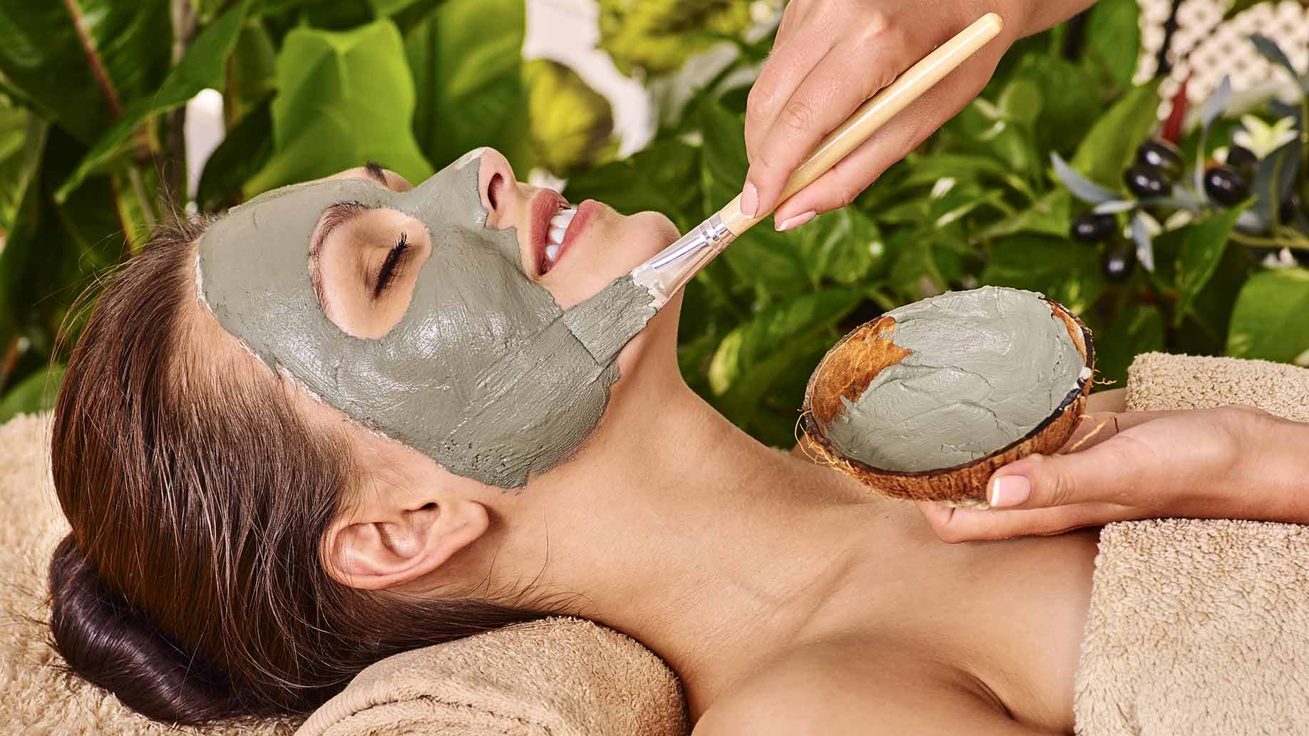 Natural DIY facial masks for acne problem skin spa treatment