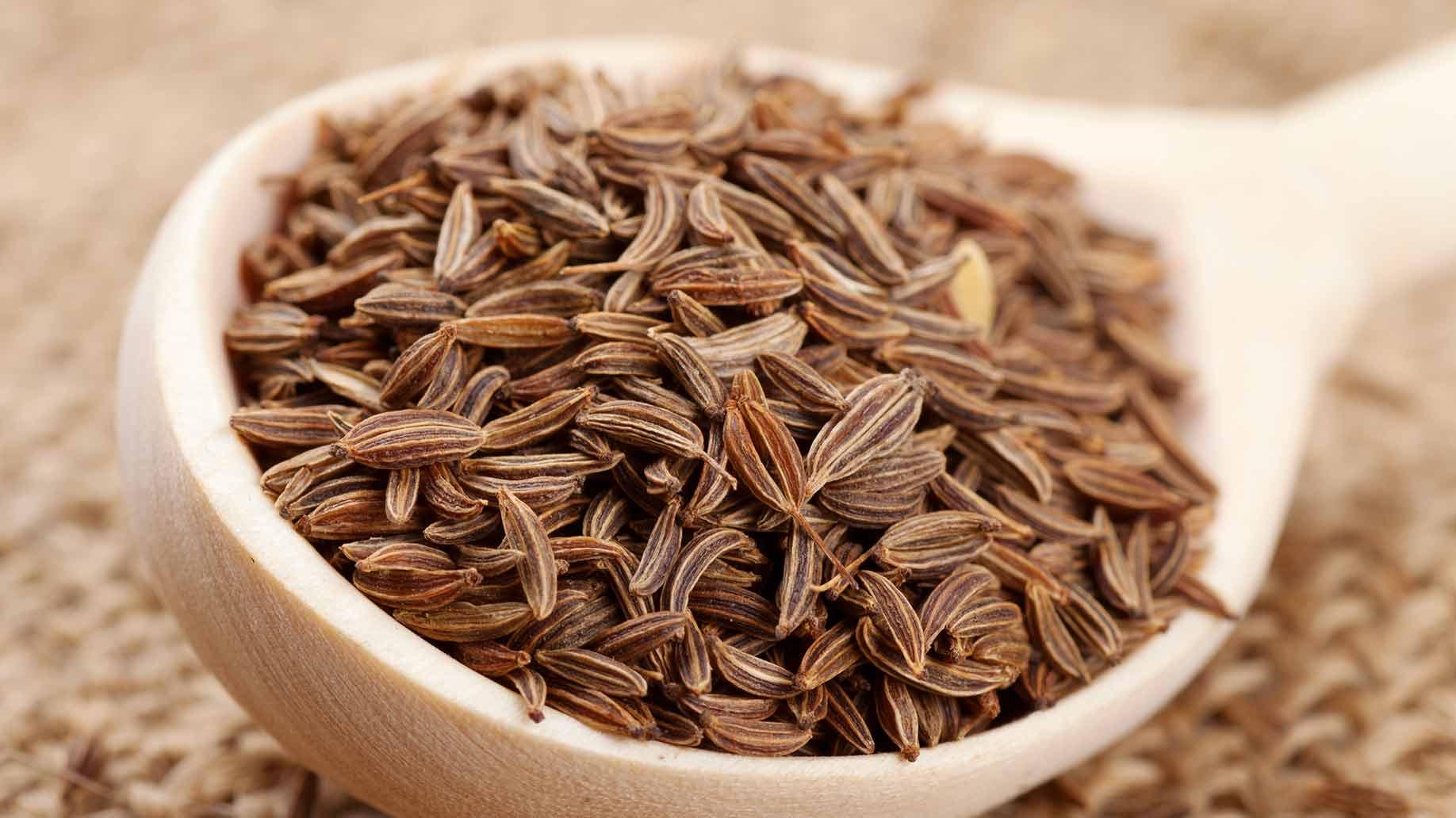 fennel seeds brown unmilled spoonful