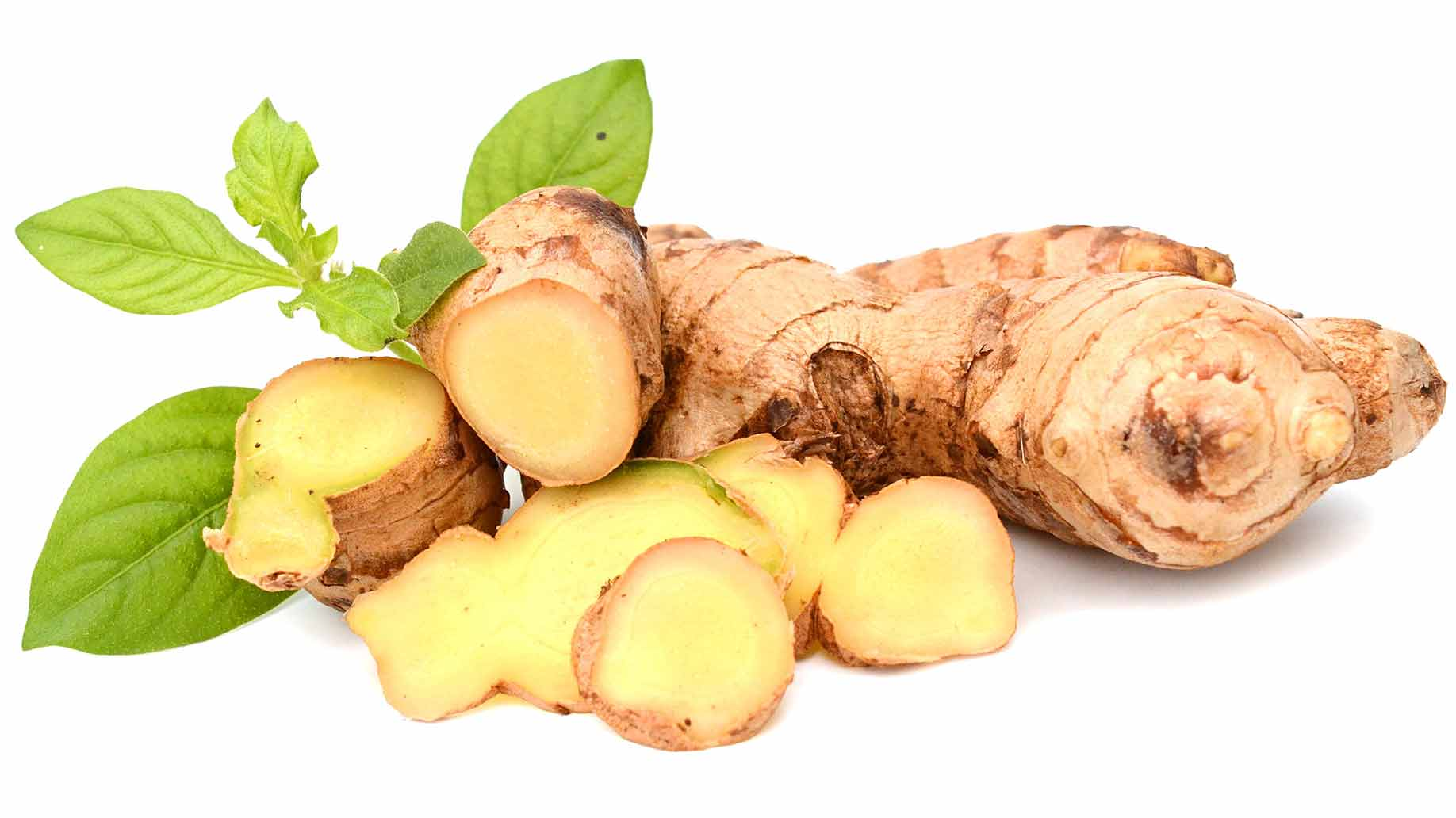 ginger raw freshly sliced