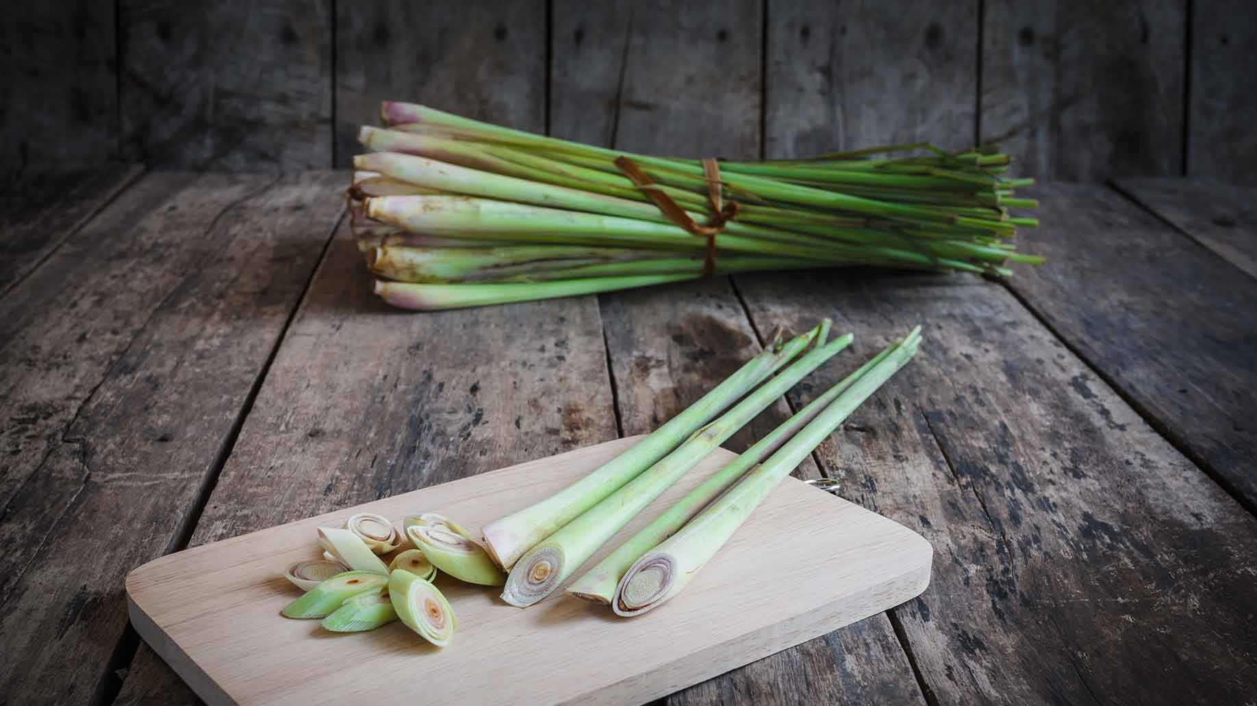 Lemongrass Herb Fresh Green Stalk And Stems