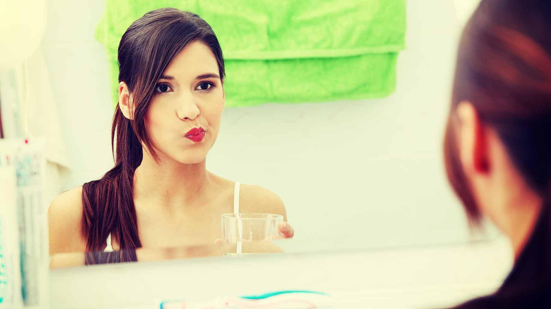 brush properly bad breath halitosis get rid of naturally