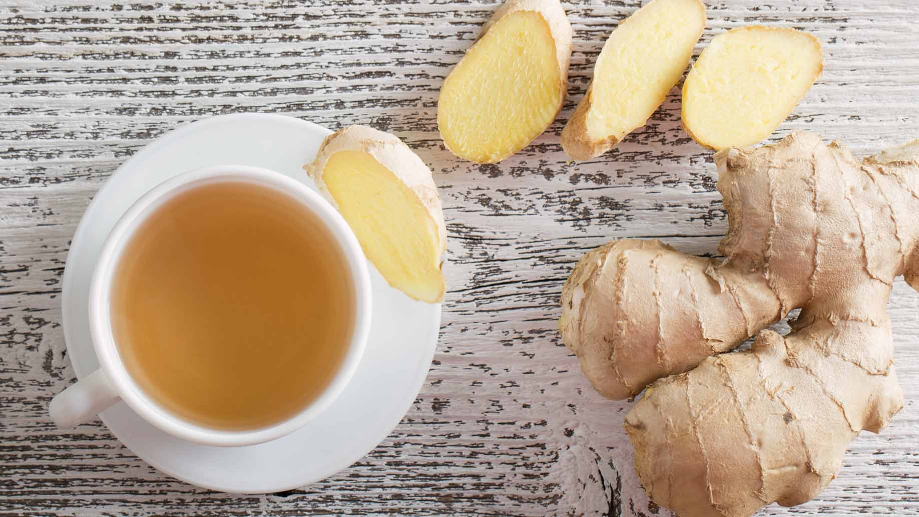 fresh raw ginger root tea headaches migraines natural remedies