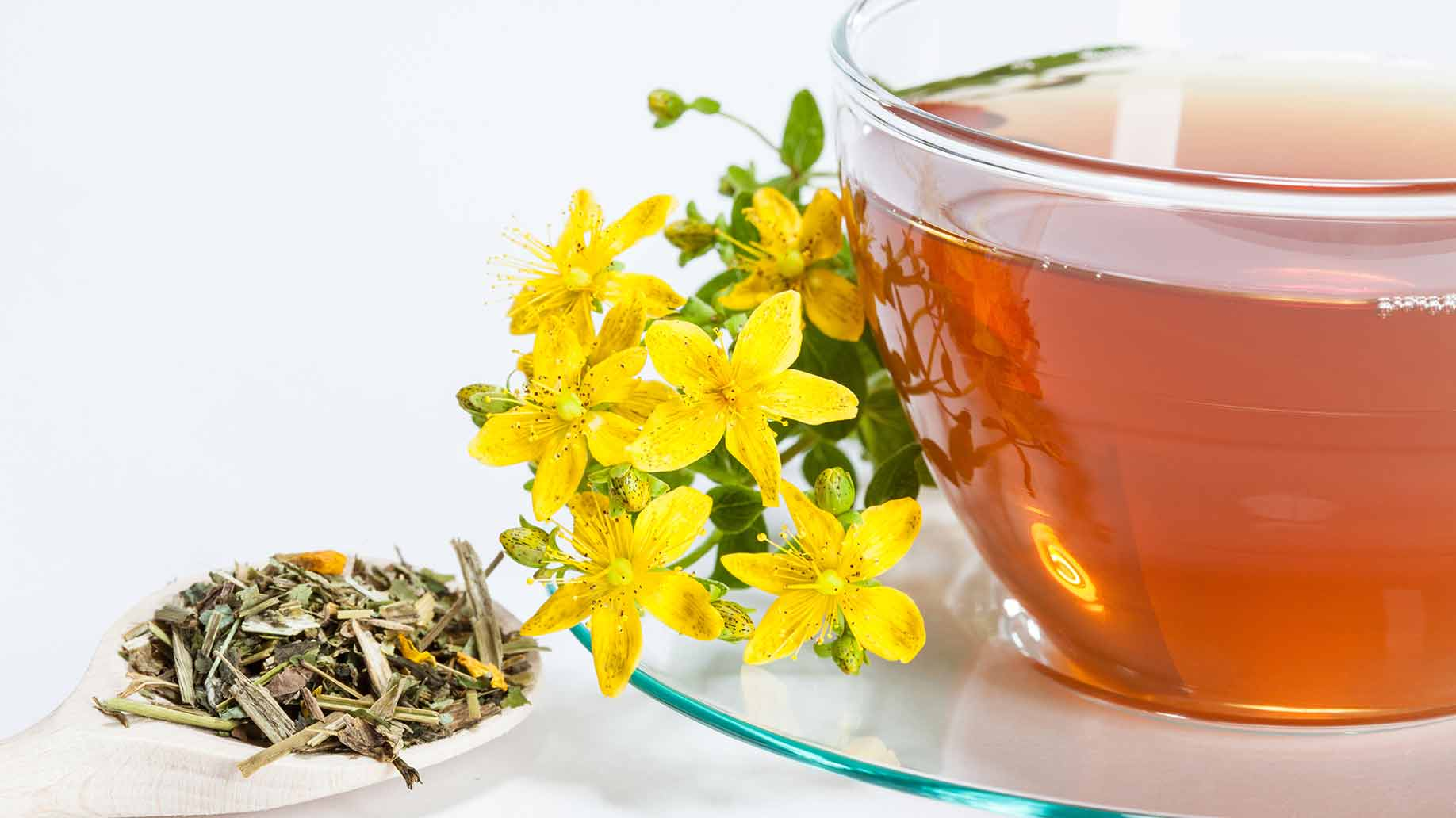 premenstrual syndrome pms symptoms st johns wort flowers tea depression