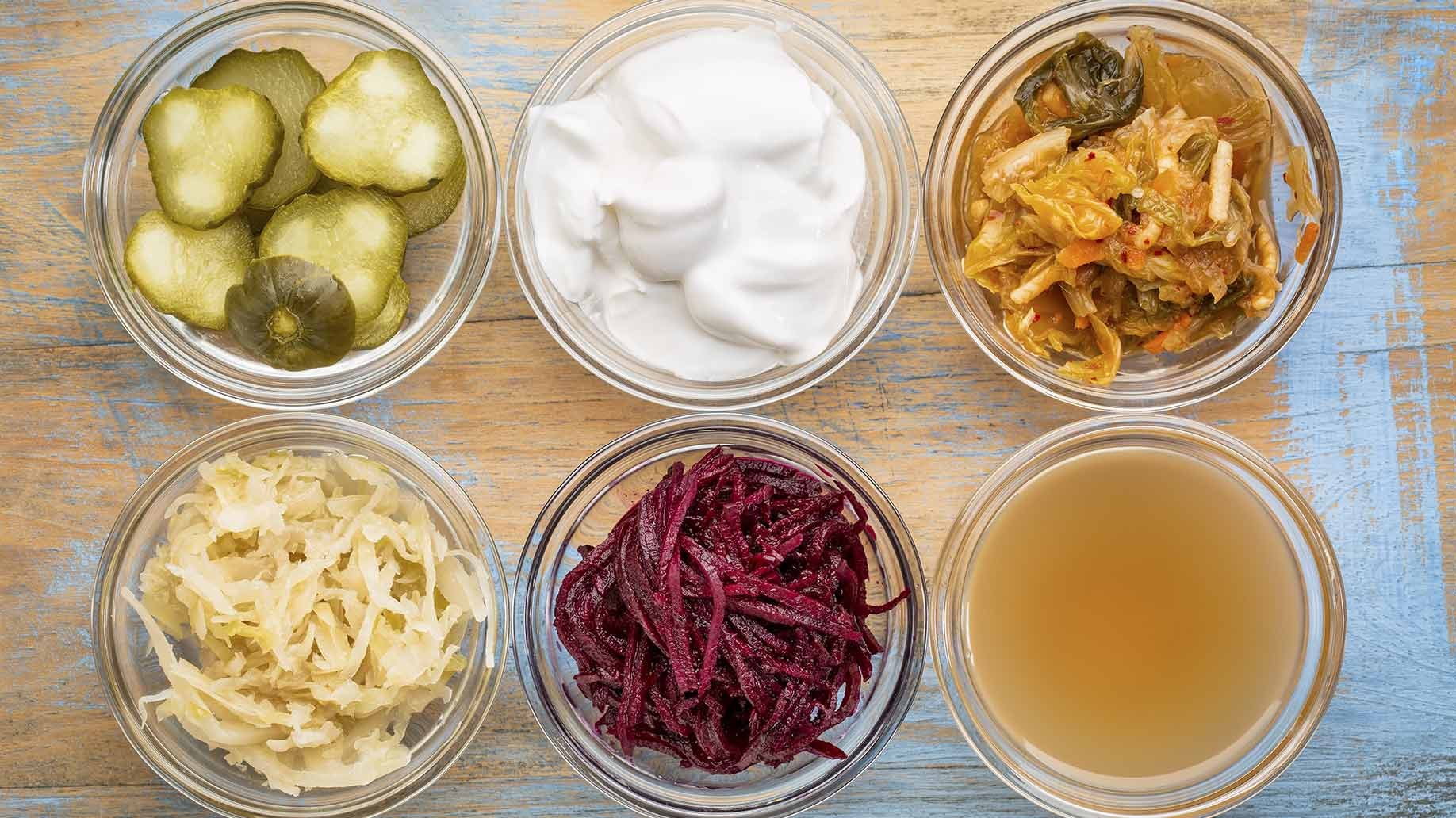 probiotics acne yogurt kimchi fermented gut health bacteria sauerkraut natural remedies