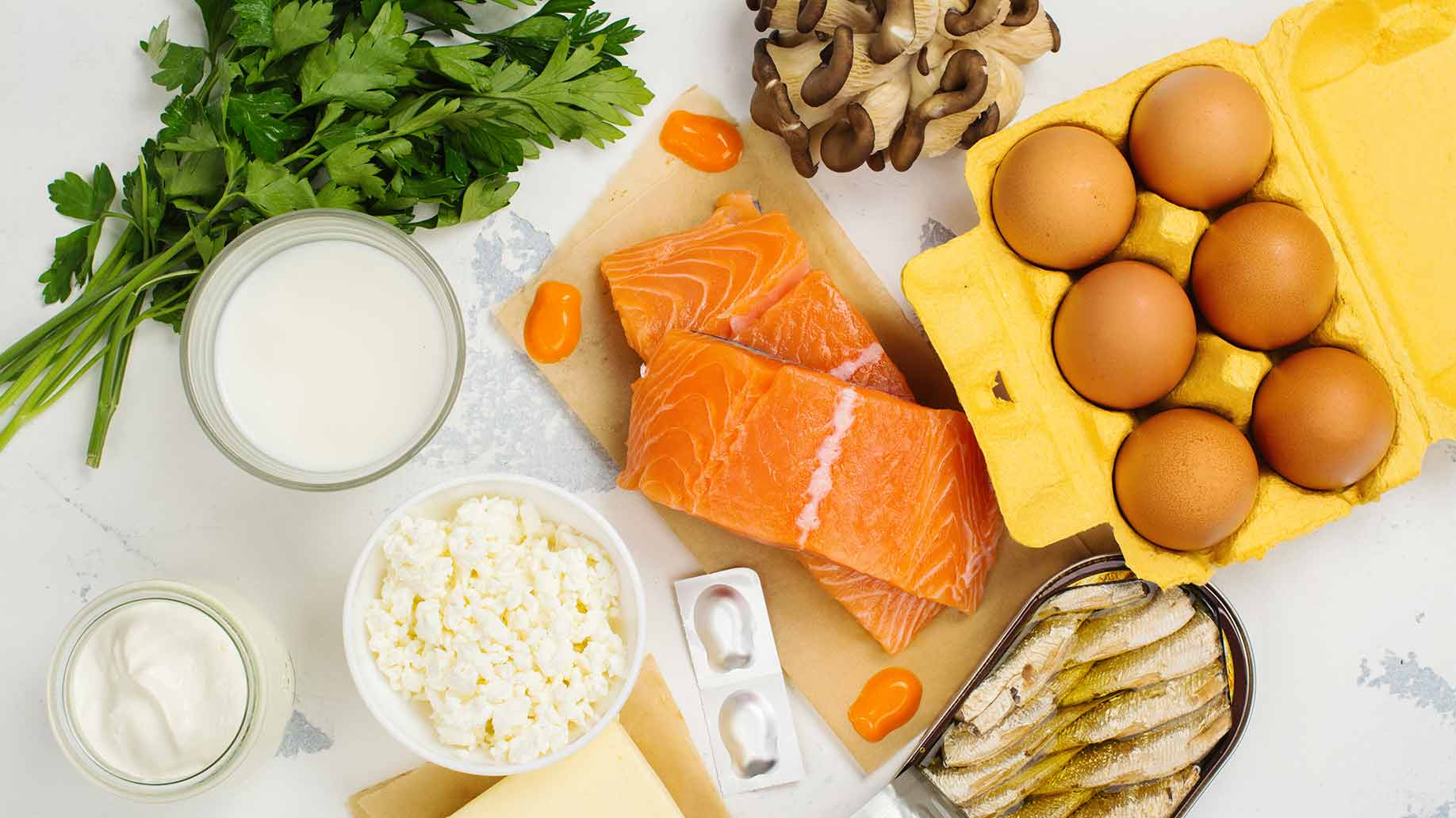 vitamin d food sources salmon mushrooms sardines eggs cheese dairy peas fish natural sources