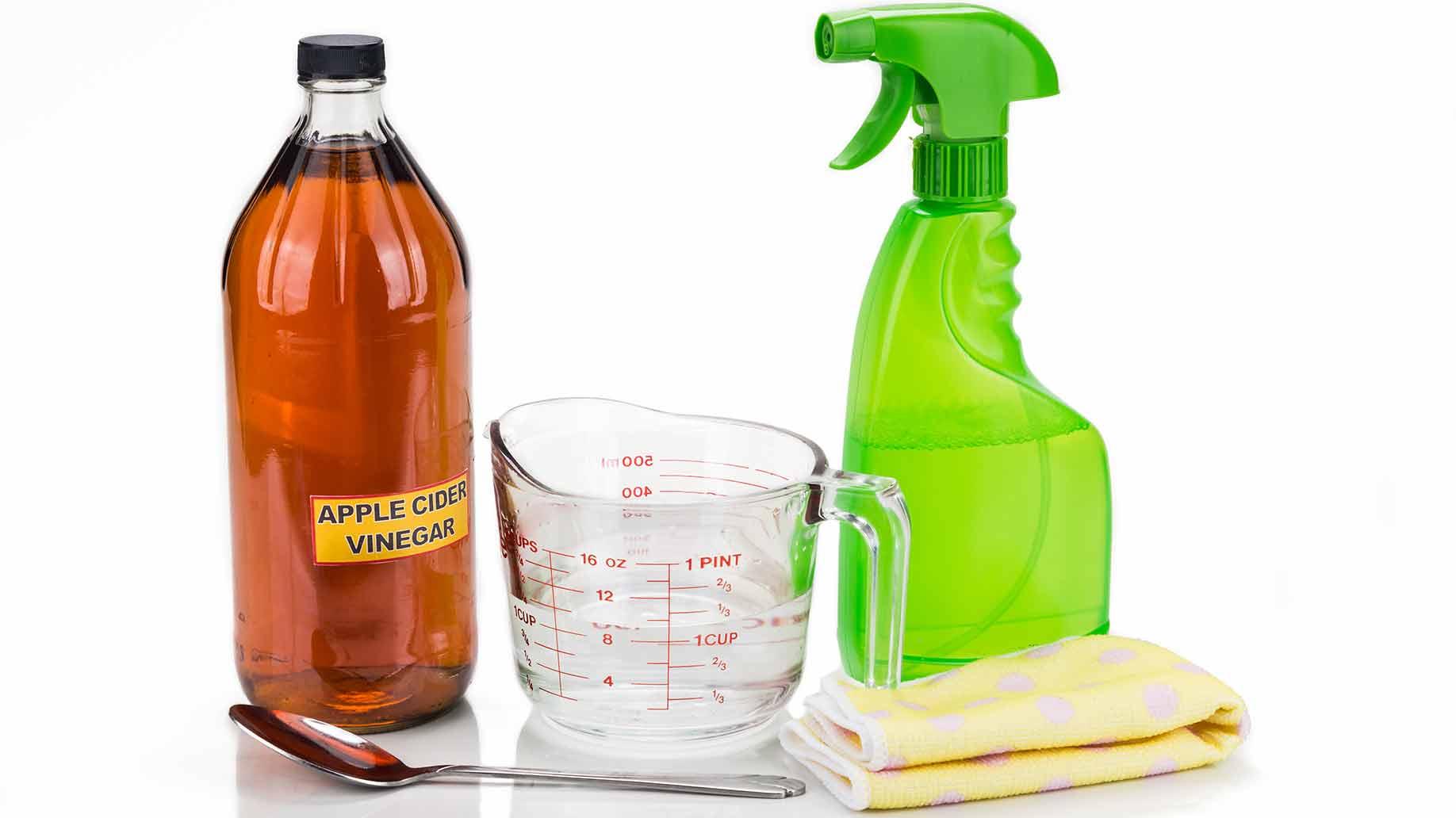 apple cider vinegar spray rinse water balance natural ph level hair diy shampoo