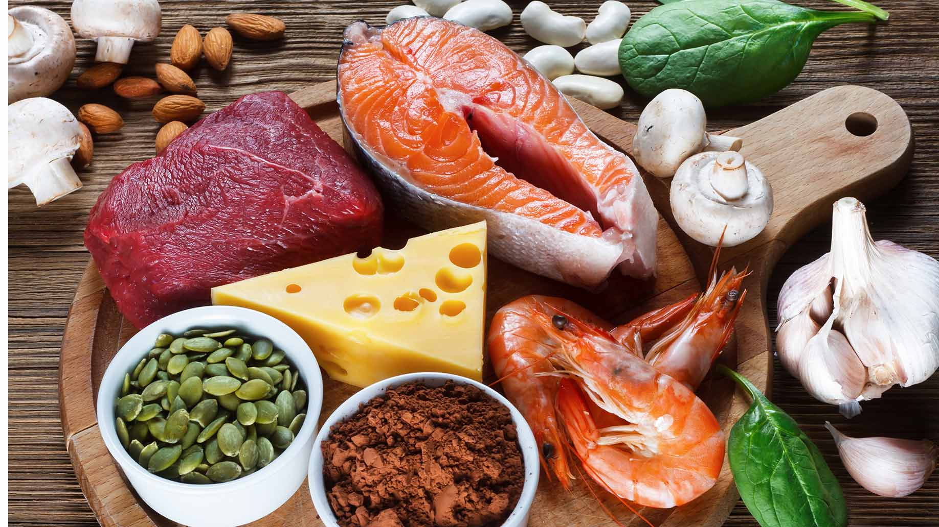 leaky gut zinc salmon shrimp beef pumpkin seed -garlic beans mushrooms natural remedies