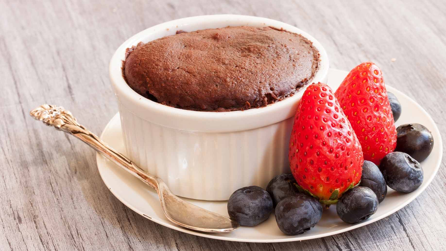 chocolate mug cake healthy snack ideas